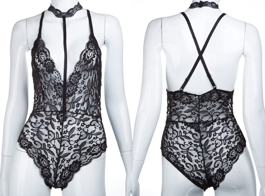 블랙피치Lace Chocker Body Suit