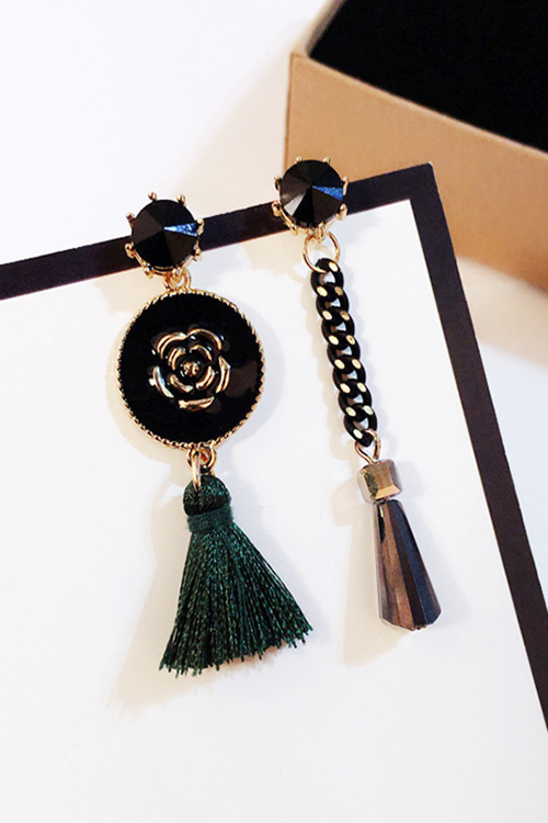 블랙피치Camellia Multi Drop Earrings